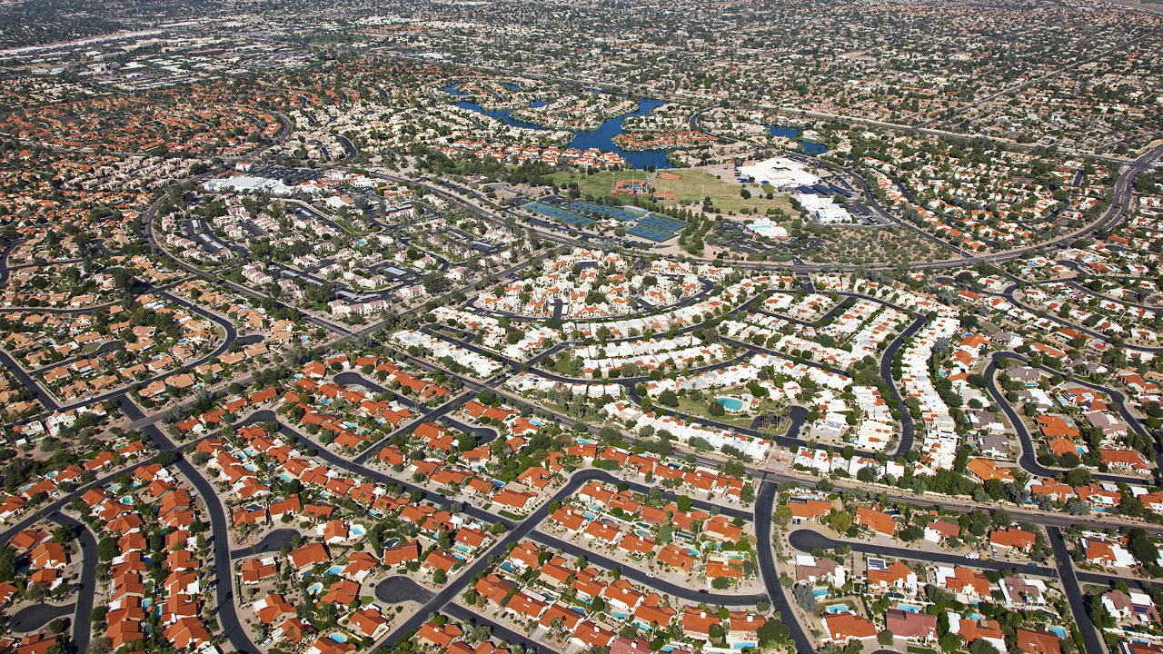 Exemple d'urban sprawl